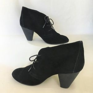 Black Suede Aldo Lace-Up Booties Size 9